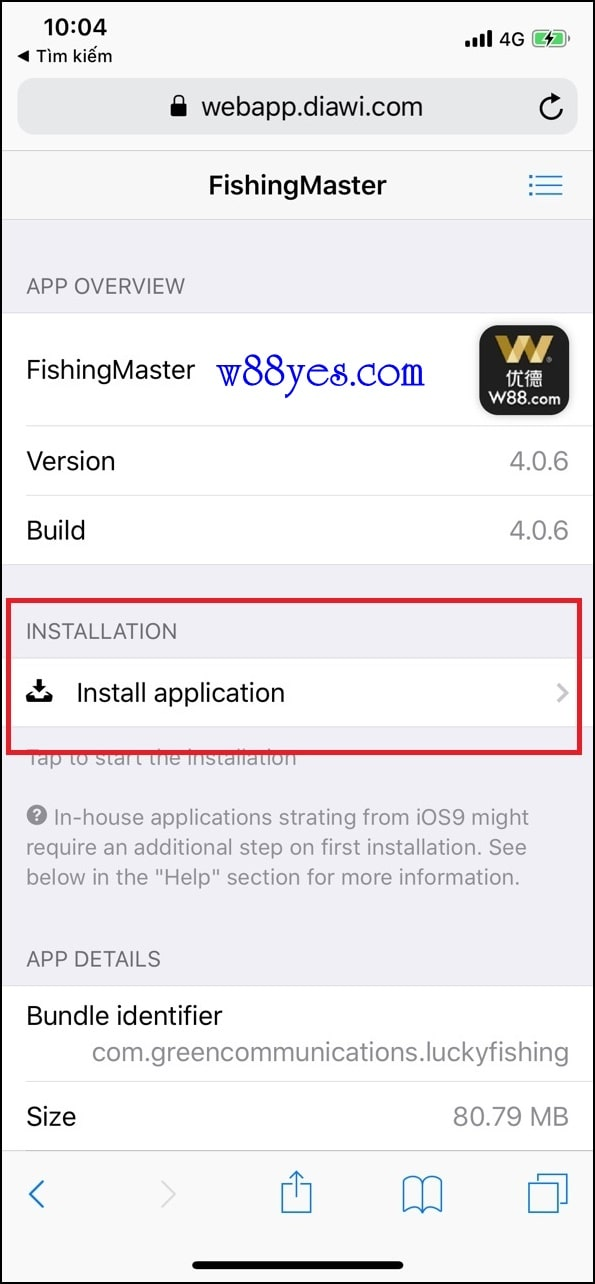 Hướng dẫn cài đặt App IOS Bắn cá cho Iphone và Ipad - Bắn cá W88 online